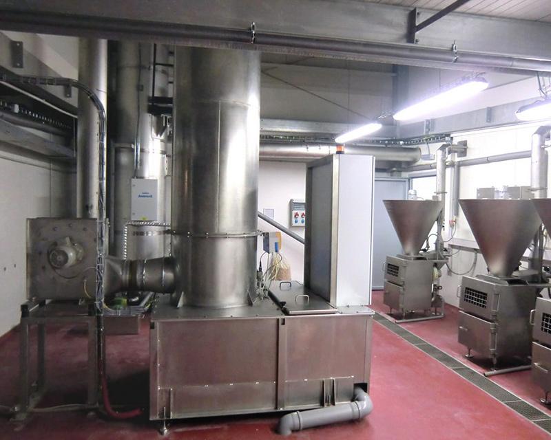 KMA AAIRMAXX® installed in industrial smoke house