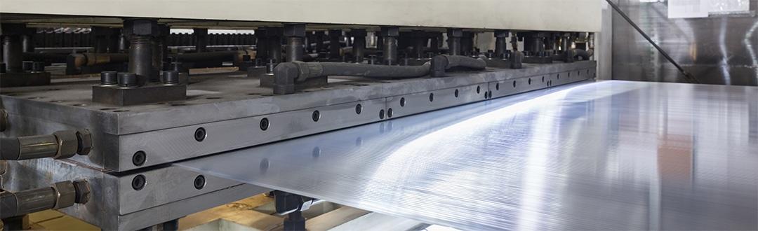 Folie aus Kunststoff in der Herstellung