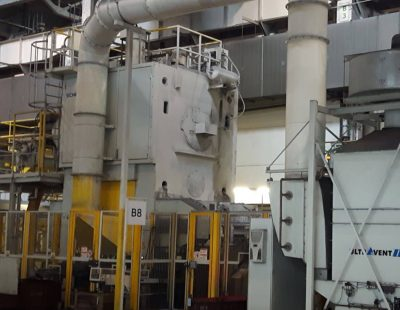 KMA offers exhaust air filter systems for forging and pressing