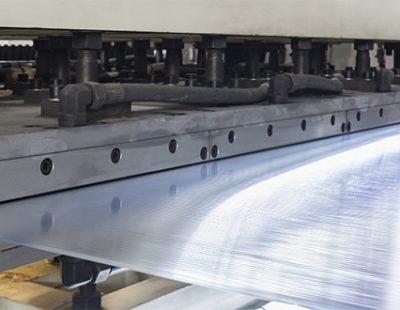 Plastic film in production