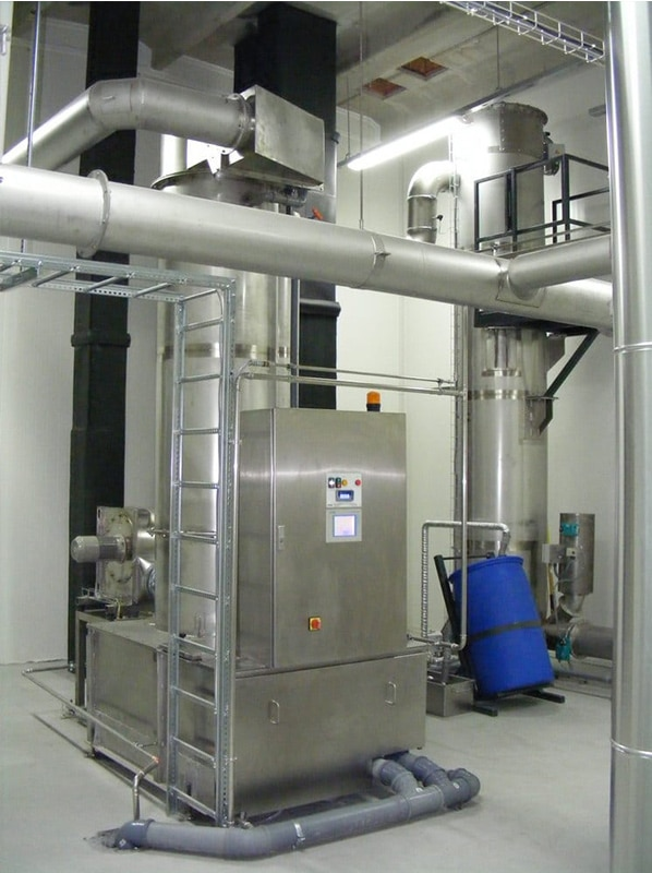 Several smoking systems can be connected to one AAIRMAXX® smoke filter.