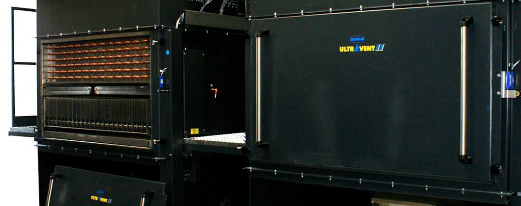 KMA filtration systems can be equipped with a heat exchanger for efficient heat recovery